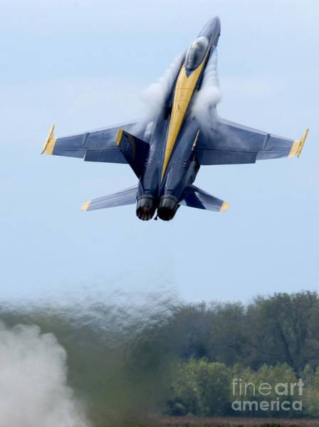 A-18 Hornet Wall Art - Photograph - Lead Solo Pilot Of The Blue Angels by Stocktrek Images