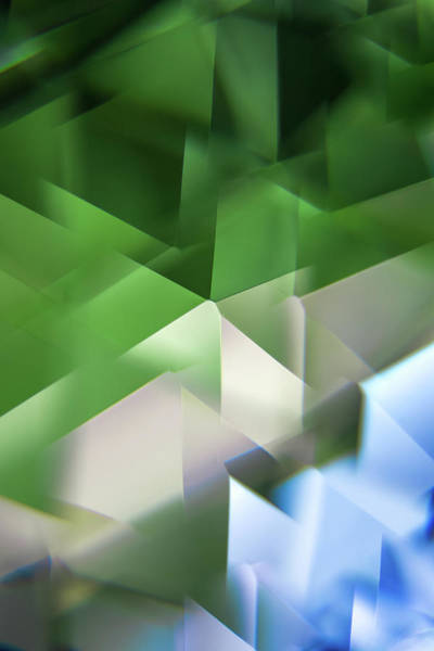 Photograph - Leaded Crystal Facets by Jeanette Fellows