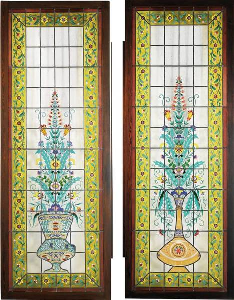 Leaded Glass Painting - Leaded-glass Double-doors  by Eastern Accents