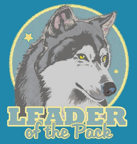 Alpha Wolf Wall Art - Mixed Media - Leader Of The Pack by J L Meadows