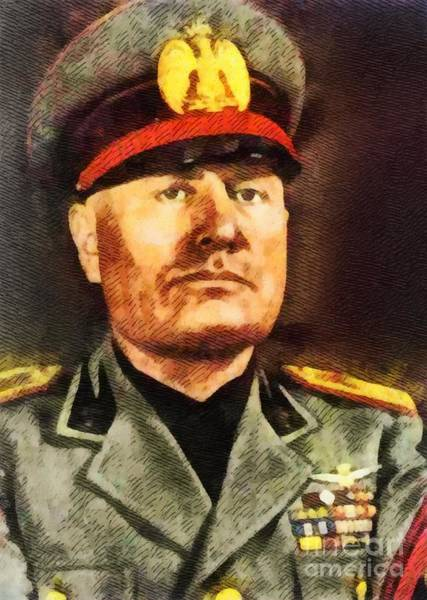 Wwi Wall Art - Painting - Leaders Of Wwii - Benito Mussolini by John Springfield