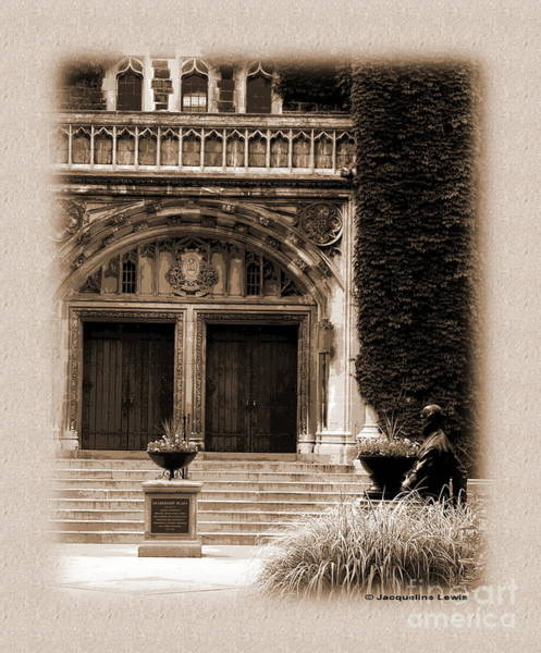 Lehigh University Wall Art - Photograph - Leadership Plaza - Sepia by Jacqueline M Lewis