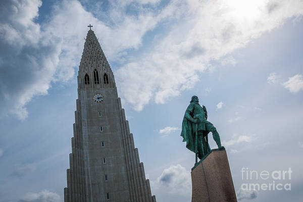 Reykjavik Photograph - Leif Erikson Statue In Iceland by Michael Ver Sprill