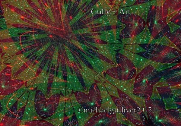 Wall Art - Digital Art - Leaf by Michael Wayne Gulliver