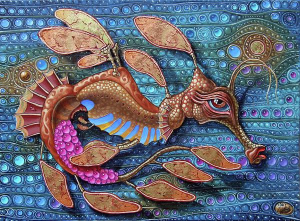 Painting - Leafy Seadragon by Victor Molev