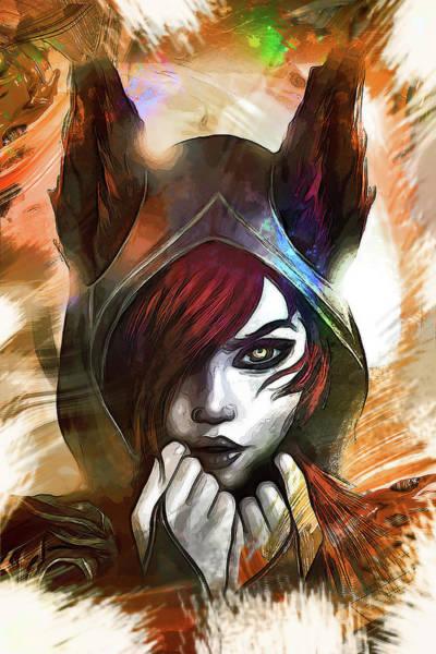 Wall Art - Digital Art - League Of Legends Xayah by Dusan Naumovski