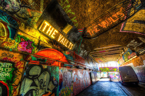 Wall Art - Photograph - Leake Street London Vault by David Pyatt