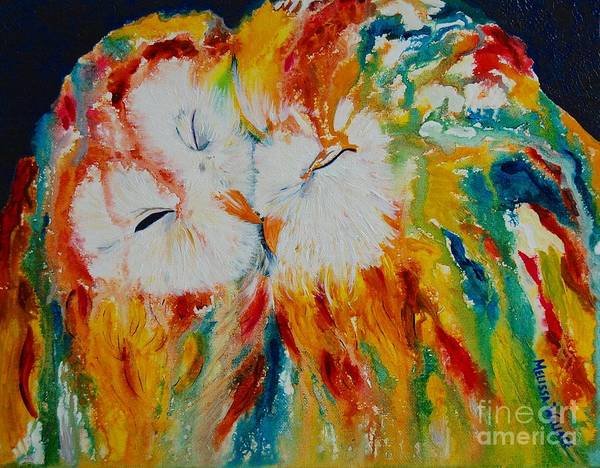 Boldness Painting - Lean On Me by Melissa Wallace