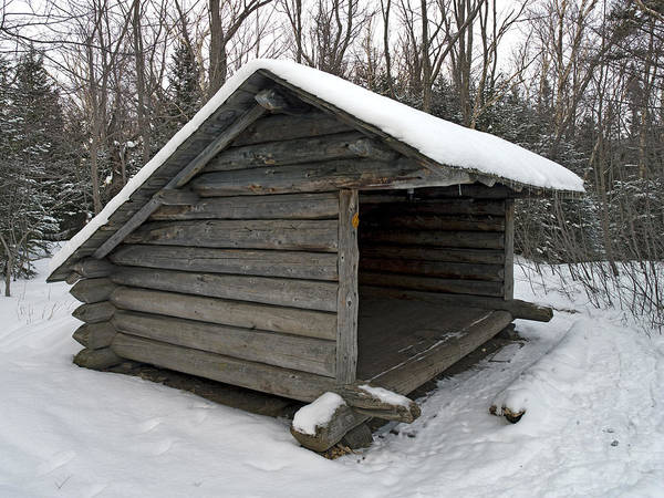 Lean-tos Photograph - Lean To Cabin In The Adirondack Mountains - Upstate New York During Winter by Brendan Reals