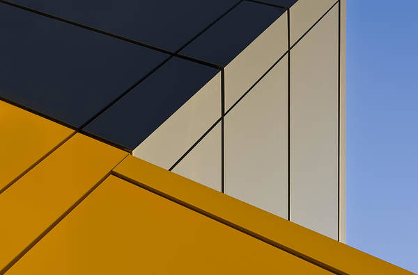 Lines Photograph - Leaning Against The Blue Sky by Gerard Jonkman