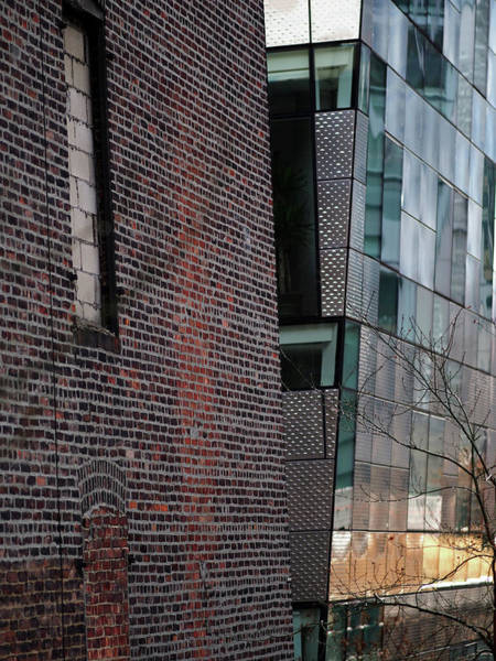 Juxtaposition Photograph - Leaning In At The High Line by Rona Black