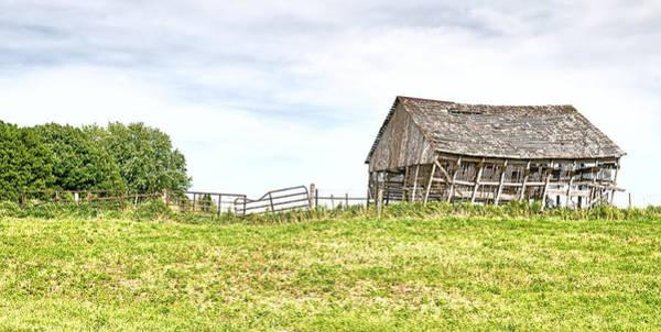 Photograph - Leaning Iowa Barn by Scott Hansen