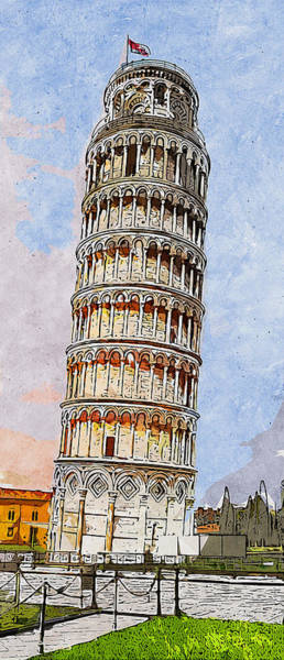 Painting - Leaning Tower Of Pisa - 01  by Andrea Mazzocchetti