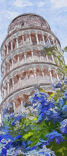 Painting - Leaning Tower Of Pisa - 02 by Andrea Mazzocchetti