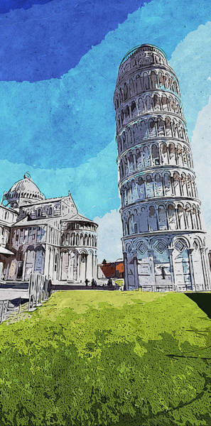 Painting - Leaning Tower Of Pisa - 05 by Andrea Mazzocchetti