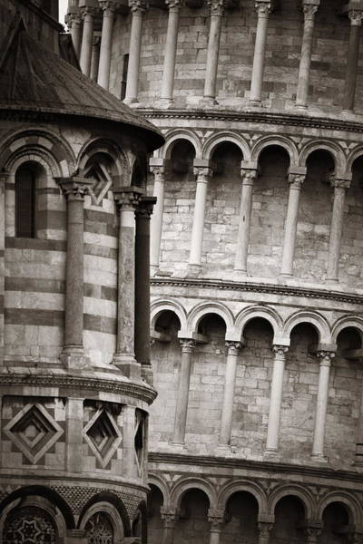 Photograph - Leaning Tower Pisa Closeup Cathedral by Songquan Deng