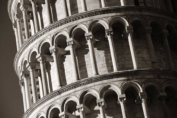 Photograph - Leaning Tower Pisa Closeup by Songquan Deng