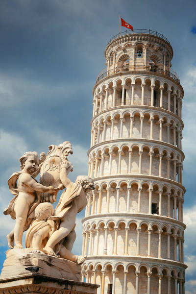 Photograph - Leaning Tower Sculpture In Pisa by Songquan Deng