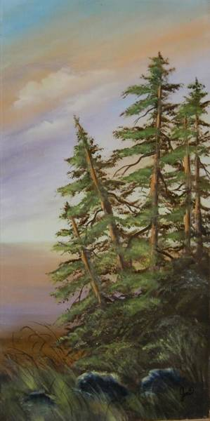 Painting - Leaning Trees by Joni McPherson