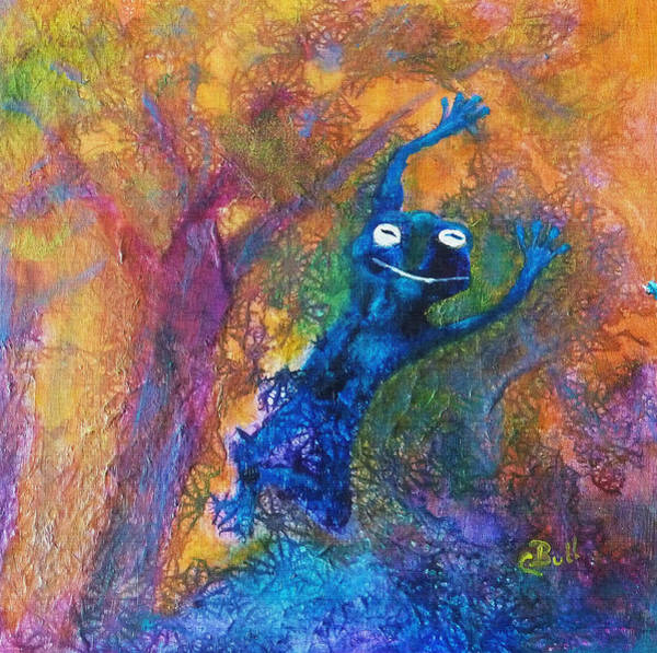 Mixed Media - Leap Frog by Claire Bull