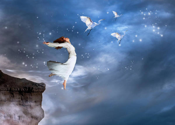 Digital Art - Leap Of Faith by Nicole Wilde