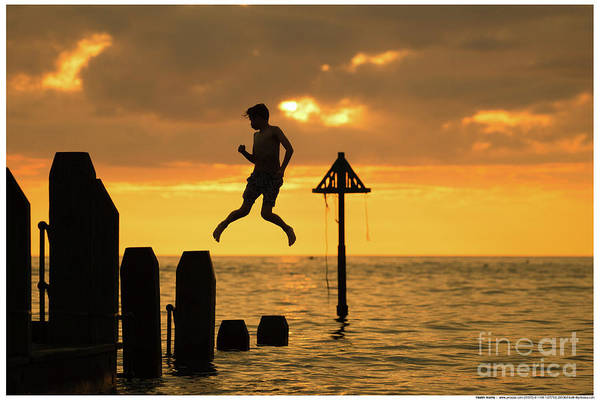 Photograph - Leaping At Sunset by Keith Morris