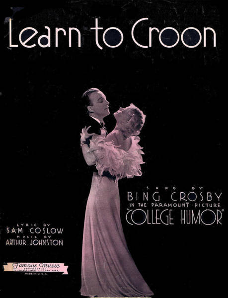 Tin Pan Alley Photograph - Learn To Croon by Mel Thompson