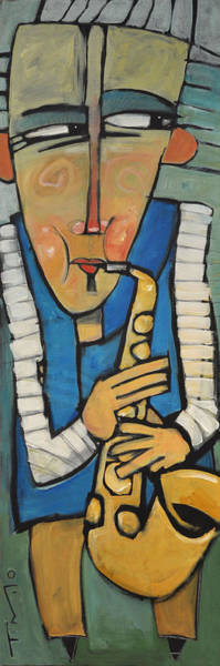 Sax Painting - Learn To Work The Saxophone by Tim Nyberg