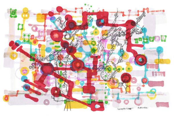 Drawing - Learning Circuit by Regina Valluzzi