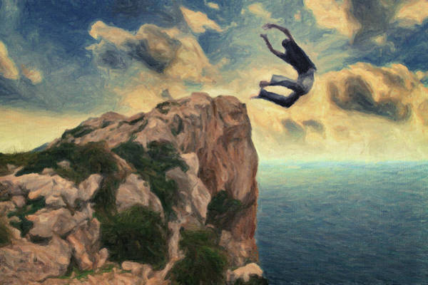 Suicide Painting - Learning To Fly by Zapista Zapista
