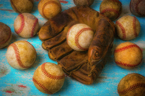 Wall Art - Photograph - Leather Glove And Old Balls by Garry Gay