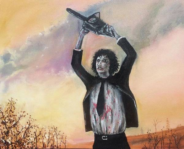 Serial Killer Painting - Leatherface by William Chas Maxwell