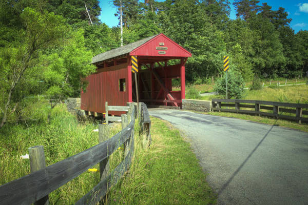 Photograph - Leatherman Covered Bridge by Jack R Perry