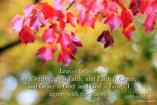 Leaves Believe Art Print