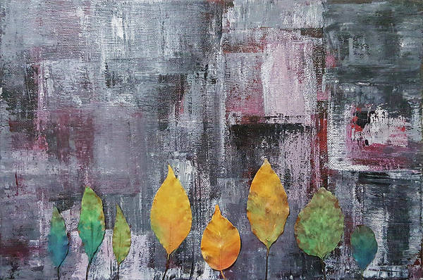 Season Mixed Media - Leaves In Concrete Jungle by Kathleen Wong
