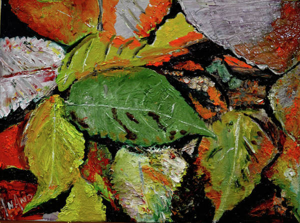 Wall Art - Painting - Leaves Leaves And Leaves-2 by Anand Swaroop Manchiraju