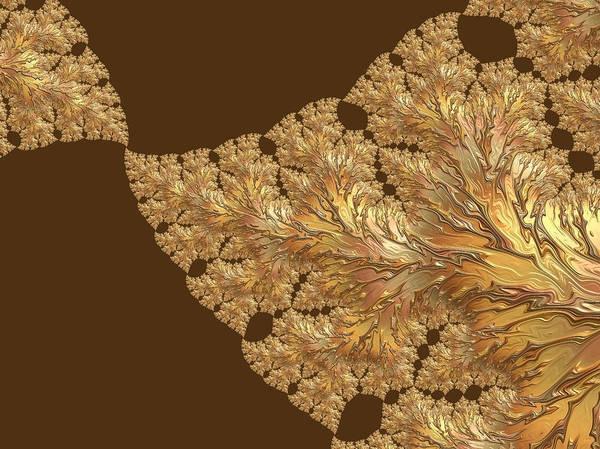 Digital Art - Leaves Of Gold by Susan Maxwell Schmidt