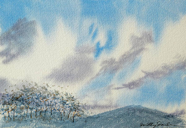 Painting - The Blue Hills Of Summer by Dorothy Darden