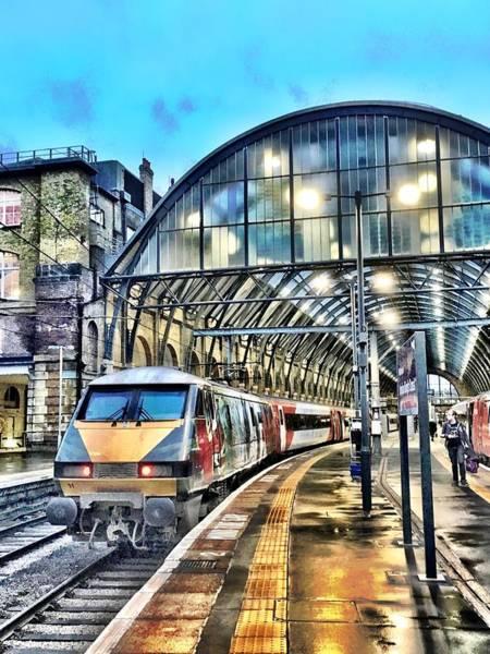 Wall Art - Photograph - Leaving Kings Cross Station by Mo Barton