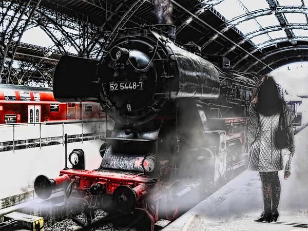 Railway Station Photograph - Leaving Never Is Easy by Joachim G Pinkawa