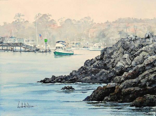 Laguna Beach Painting - Leaving Port by Bill Hudson