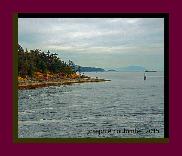 Digital Art - Leaving Port - From Vancouver Island by Joseph Coulombe