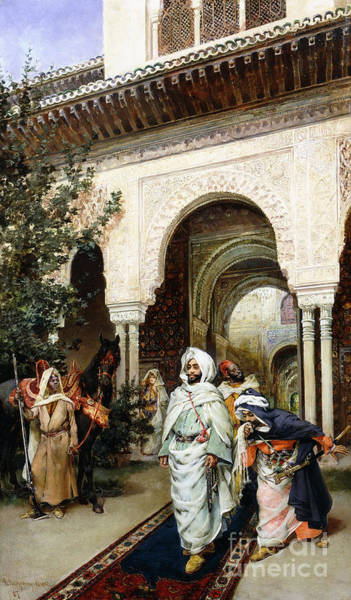 Granada Wall Art - Painting - Leaving The Alhambra by Harry Humphrey Moore