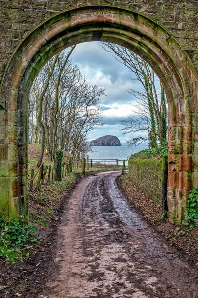 Photograph - Leaving The Beach And Looking Back At Bass Rock by Jeremy Lavender Photography