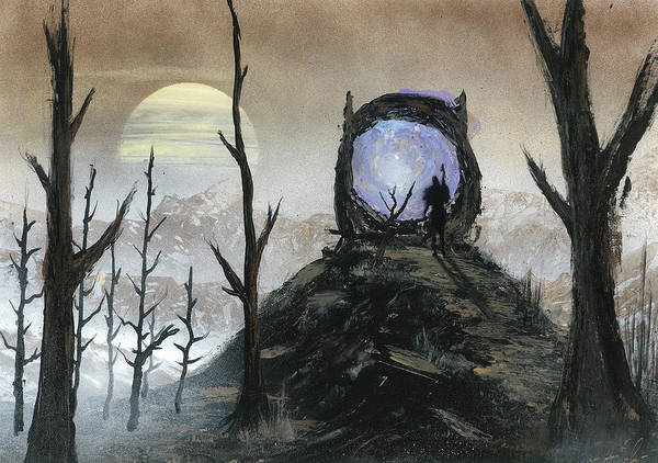 Videogame Painting - Leaving The Desolation by Andrew Rogov