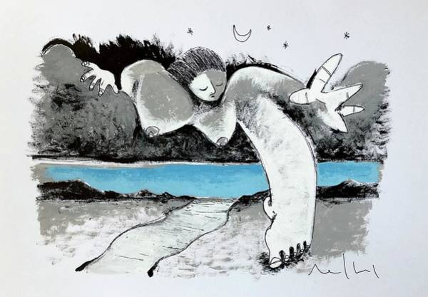 Expressionism Drawing - Leaving The Heavens  by Mark M Mellon