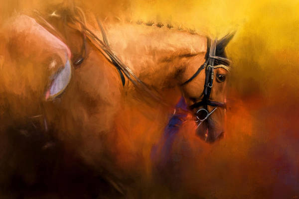 Painting - Leaving The Show Ring Equestrian Art by Jai Johnson