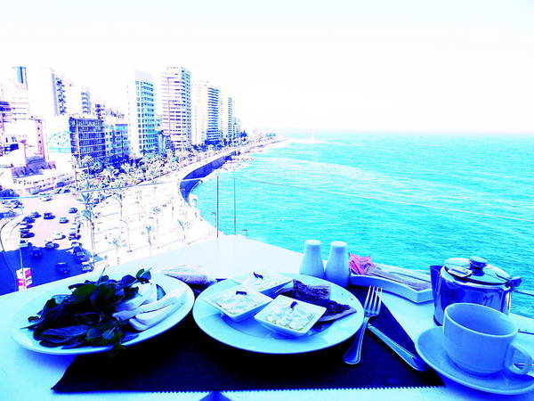Arte Photograph - Lebanese Breakfast With A View  by Funkpix Photo Hunter
