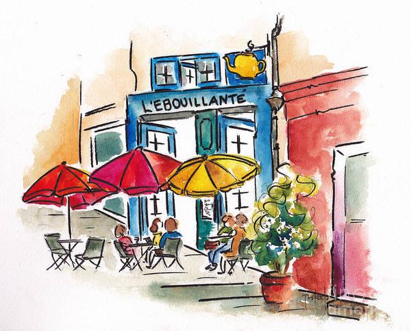Painting - Lebouillante Paris Cafe by Pat Katz