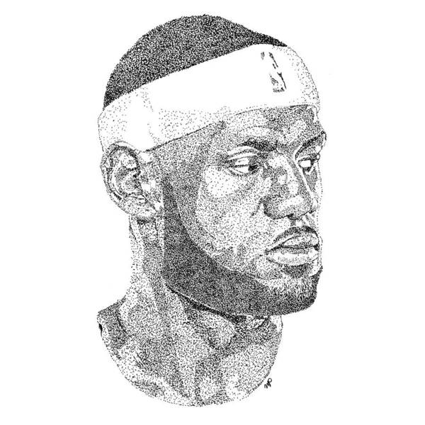 Nba Drawing - Lebron James by Marcus Price